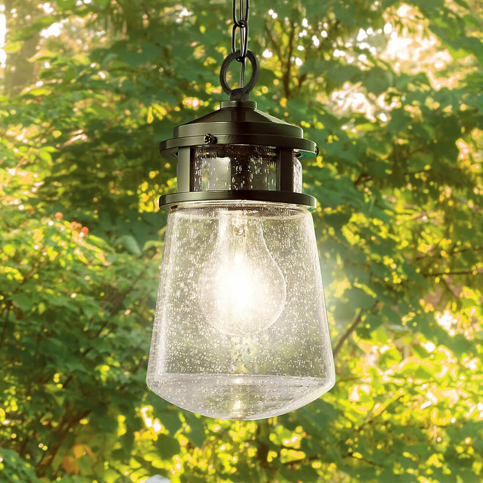 Stylish Lyndon pendant light for outdoors from KICHLER