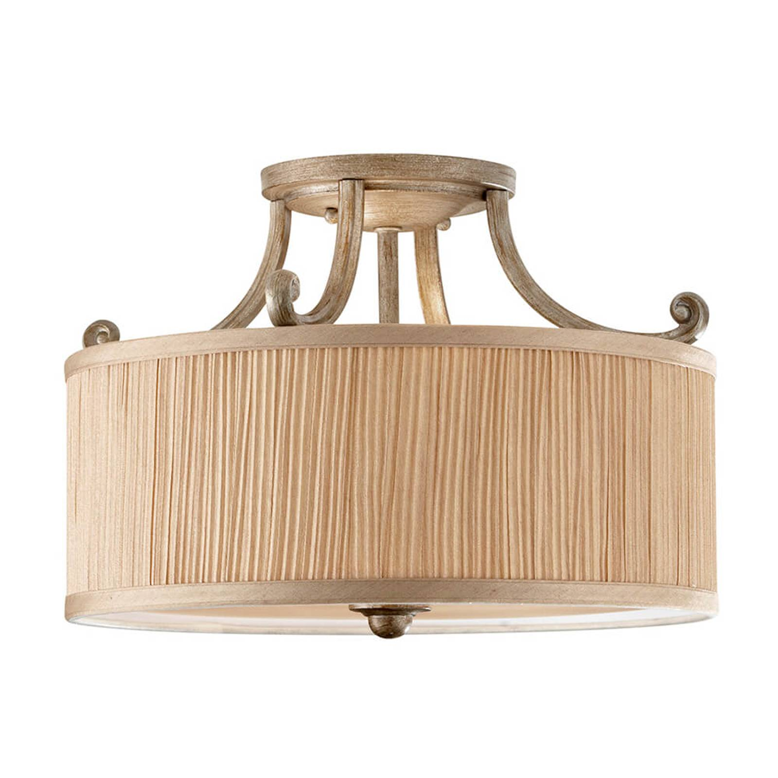 Stylish semi-flush ceiling lamp Abbey from FEISS
