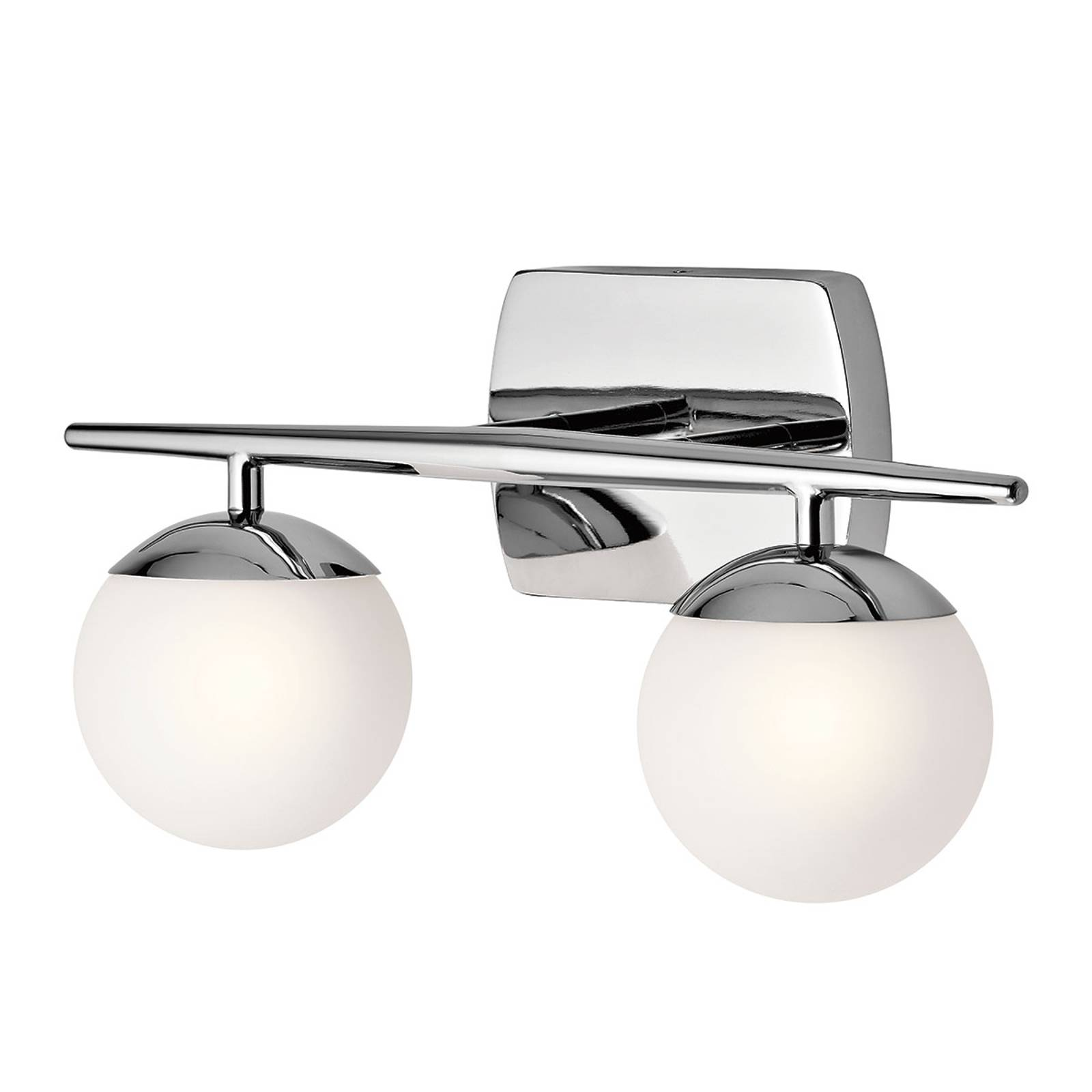 Two-bulb LED bathroom wall light Jasper, elegant from KICHLER