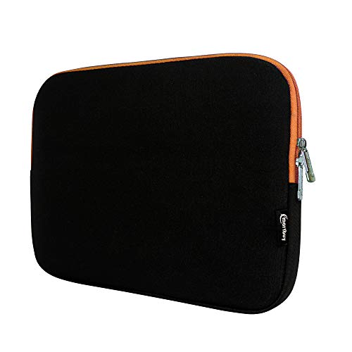 Emartbuy Black/Orange Water Resistant Neoprene Soft Zip Case Cover Sleeve With Orange Interior & Zip Suitable for Dell XPS 13 Laptop 13.3 Inch (11.6-13.3 Inch Tablet Chromebook Laptop) from Emartbuy