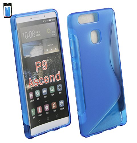 Emartbuy Ultra Slim Gel Skin Cover Case for Huawei P9 - Blue (Pack of 3) from Emartbuy