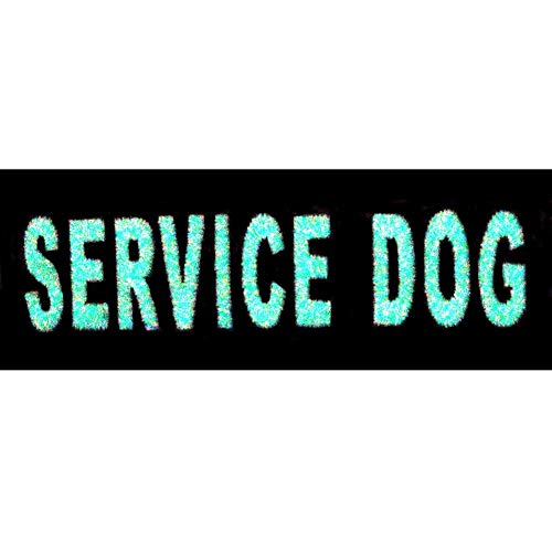 Glow in Dark Service Dog Service Animal Vests/Harnesses Emblem Embroidered Fastener Hook & Loop Patch, 4 X 1.5 inch from EmbTao