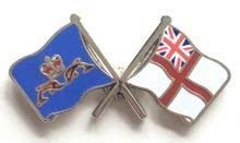 DOLPHIN & WHITE ENSIGN FLAG MILITARY ENAMEL PIN BADGE from Emblems-Gifts