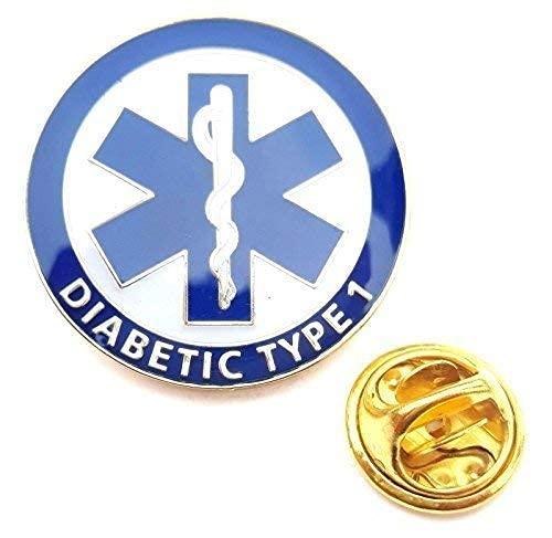 Diabetic Type 1 Medical Alert Symbol Lapel Pin Badge from Emblems-Gifts