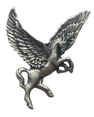 Emblems-Gifts Pegasus Handmade From English Pewter Lapel Pin Badge + 59mm Button Badge from Emblems-Gifts