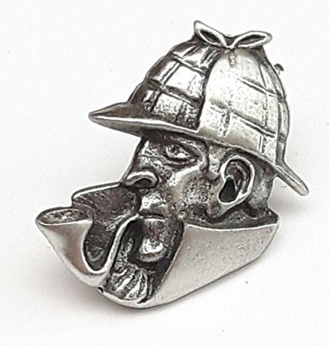 SHERLOCK HOLMES - Badge Hand Made From Solid Pewter In The UK from Emblems-Gifts