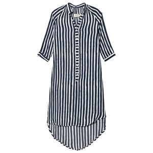 Emma och Malena Maternity Blue Stripe Brush Marie Shirt Dress XS from Emma och Malena Maternity