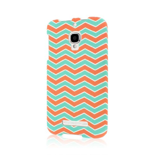 Empire Mpero Snapz Series Rubberized Case for Alcatel One Touch Fierce 7024W - Mint Chevron from Empire
