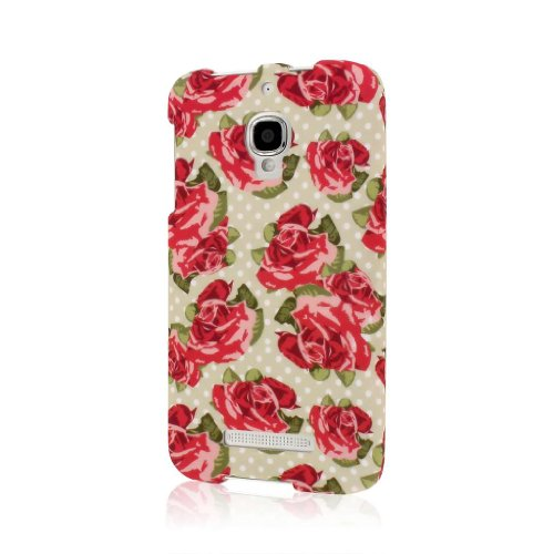 Empire Mpero Snapz Series Rubberized Case for Alcatel One Touch Fierce 7024W - Vintage Red Roses from Empire