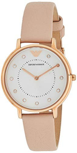 Emporio Armani Women's Analog Quartz Watch with Leather Strap AR2510 from Emporio Armani