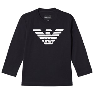 Emporio Armani Navy Eagle Logo Long Sleeve T-Shirt 10 years from Emporio Armani