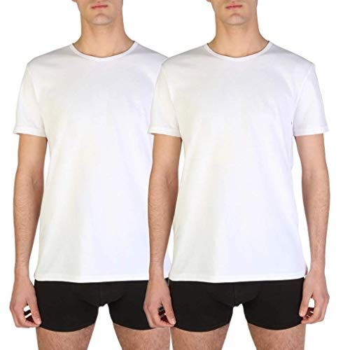 Emporio Armani Men's 111647CC722 Pyjama Top, 2 White, S (Pack of 2) from Emporio Armani