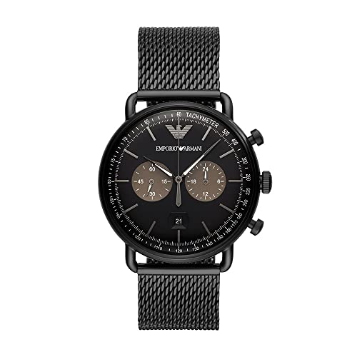 Emporio Armani Mens Chronograph Quartz Watch with Stainless Steel Strap AR11142 from Emporio Armani