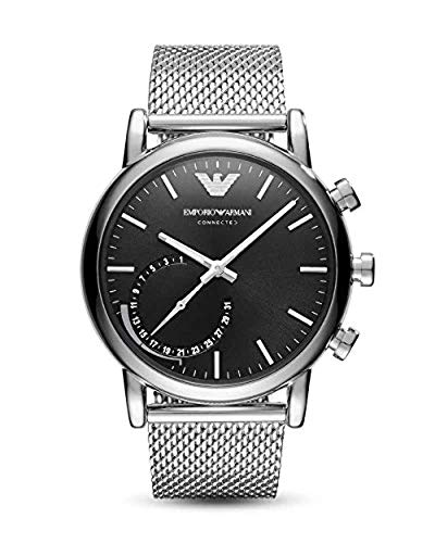Emporio Armani Mens Chronograph Quartz Connected Wrist Watch with Stainless Steel Strap ART3007 from Emporio Armani