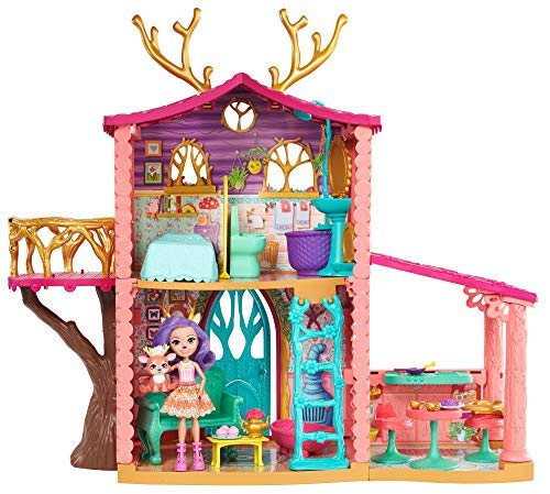 Enchantimals FRH50 Cosy House Playset with Danessa Deer Doll and Sprint Figure, Multi-Colour from Enchantimals