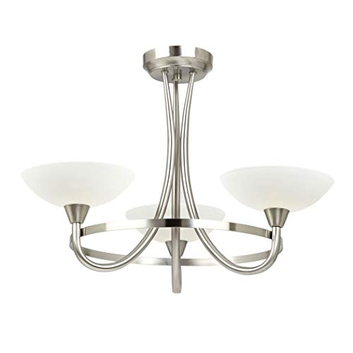 Cagney 3 Light Style Chandelier Finish: Satin Chrome from Endon