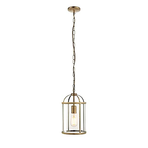 Endon 69454 Lambeth Modern Antique Decorative Antique Brass Dimmable Pendant Light Aluminium, Plastic IP20 220-240V from Endon Lighting