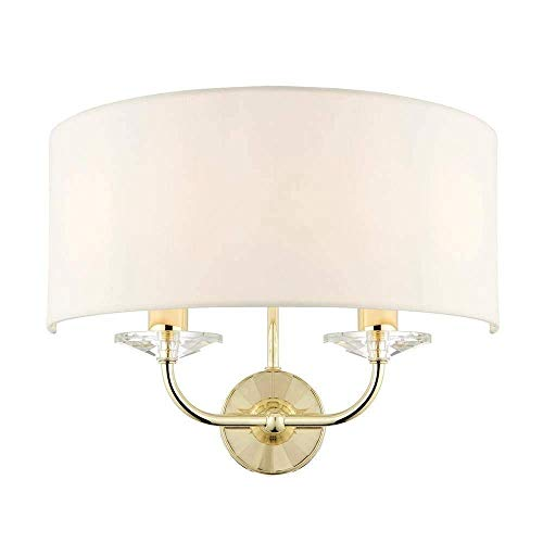 Endon 70562 Nixon Modern Contemporary Decorative Brass Dimmable Wall Light Plastic IP20 220-240V from Endon Lighting