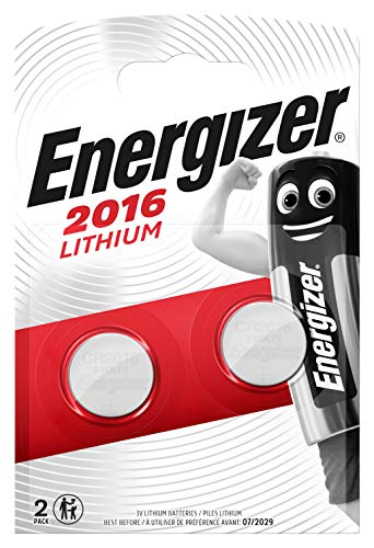 2 X Energizer CR2016 3V Lithium Coin Cell Batteries from Energizer