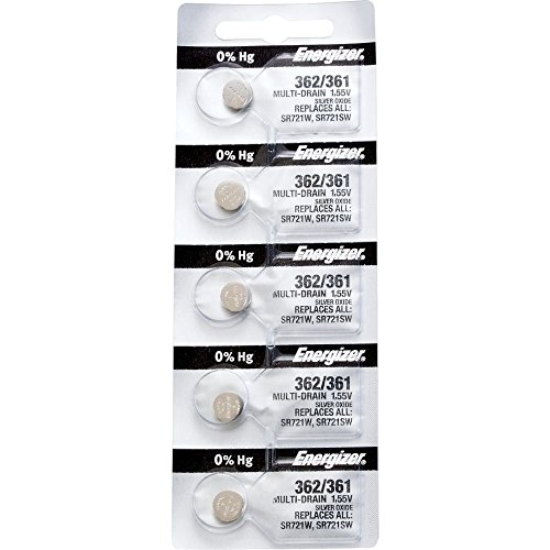 362/361 Silver Oxide Battery (Strip of 5) from Energizer