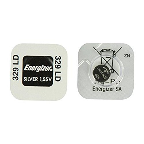 Energizer 329 Low-Drain Silver Oxide Button Cell Watch Battery (Equivalent to SR731SW), Dimensions (Height x Diameter): 3.1 x 7.9 mm, 1.55 V, in Maxi Blister Pack from Energizer