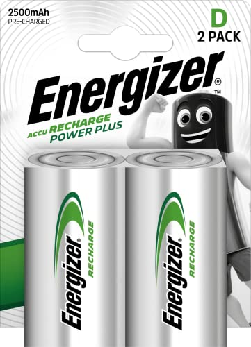 Energizer Recharge Power Plus Rechargeable D Batteries, 2 Pack from Energizer