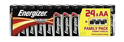 Energizer AA Batteries, Alkaline Power Double A Batteries, 24 Pack from Energizer Group