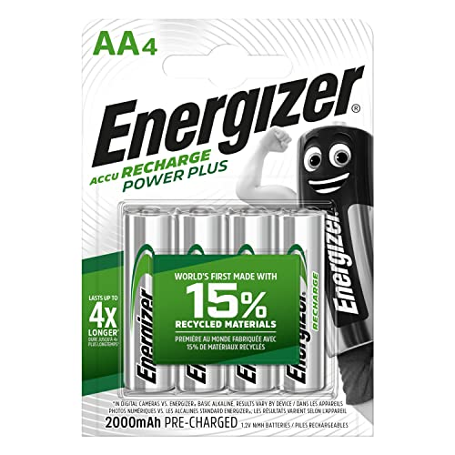 Energizer Power Plus Rechargeable AA Battery (Pack of 4) from Energizer