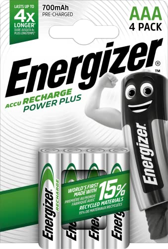 Energizer Recharge Power Plus Rechargeable AAA Batteries, 4 Pack from Energizer Group