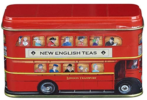 "English Tea, ""London Red Bus Tea Tin"" Traditional English Afternoon Tea in Iconic London Red Double Decker Bus Money Box - HR10 from English Teas"