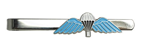 British Parachute Para Wings Military Tie Clip on Blue Enamel - Small from Epic Militaria