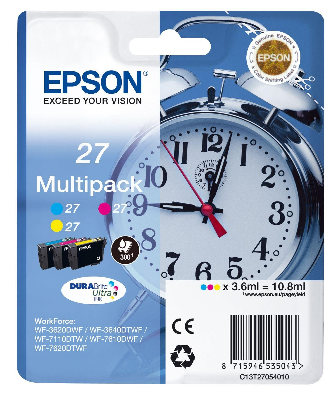 Epson Alarm Clock 27 Ink Cartridges Multipack from Epson