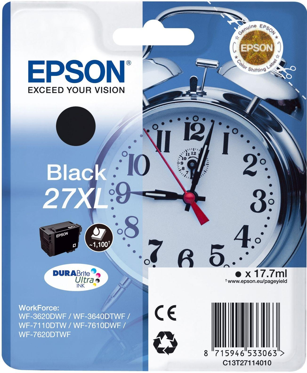 Epson 27XL Alarm Clock Ink Cartridge - Black from Epson