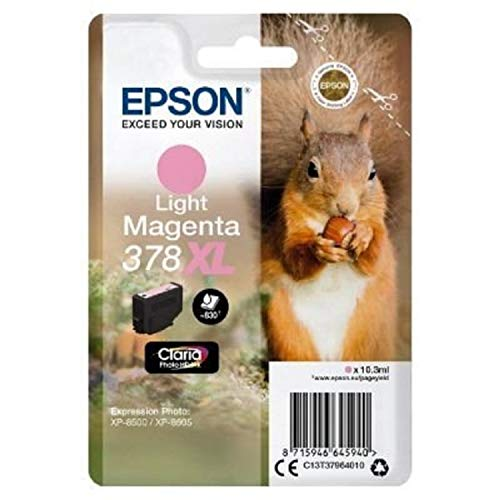 Epson 378XL Light Magenta Squirrel High Yield Genuine, Claria Photo HD Ink Cartridge, Amazon Dash Replenishment Ready from Epson