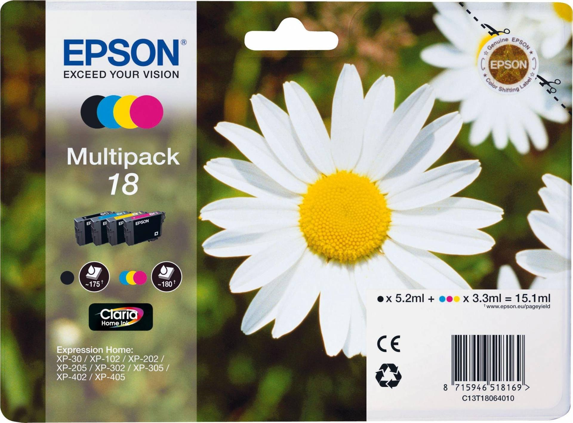 Epson Daisy 18 Ink Cartridges Multipack from Epson