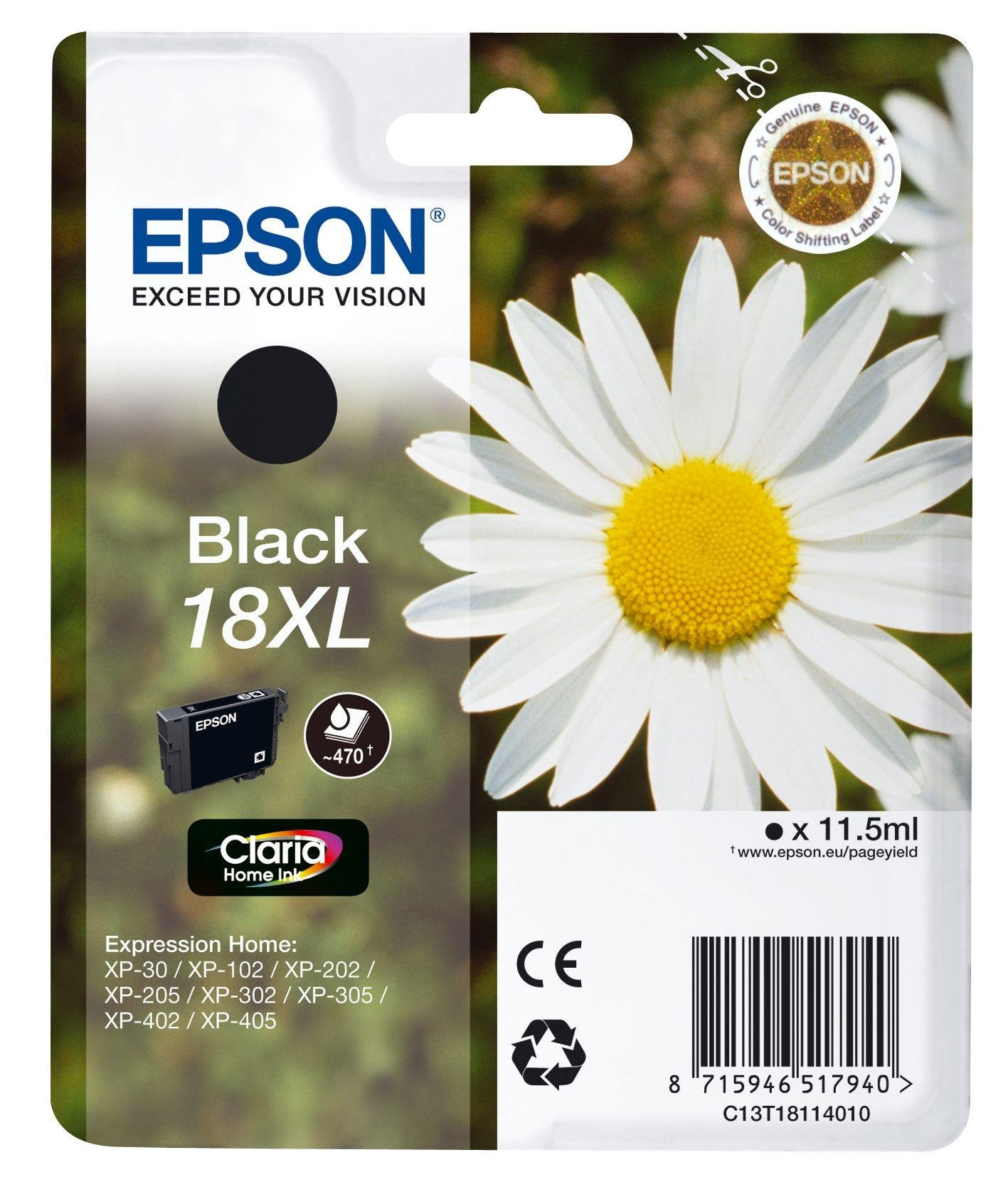Epson Daisy 18XL Black Ink Cartridge from Epson