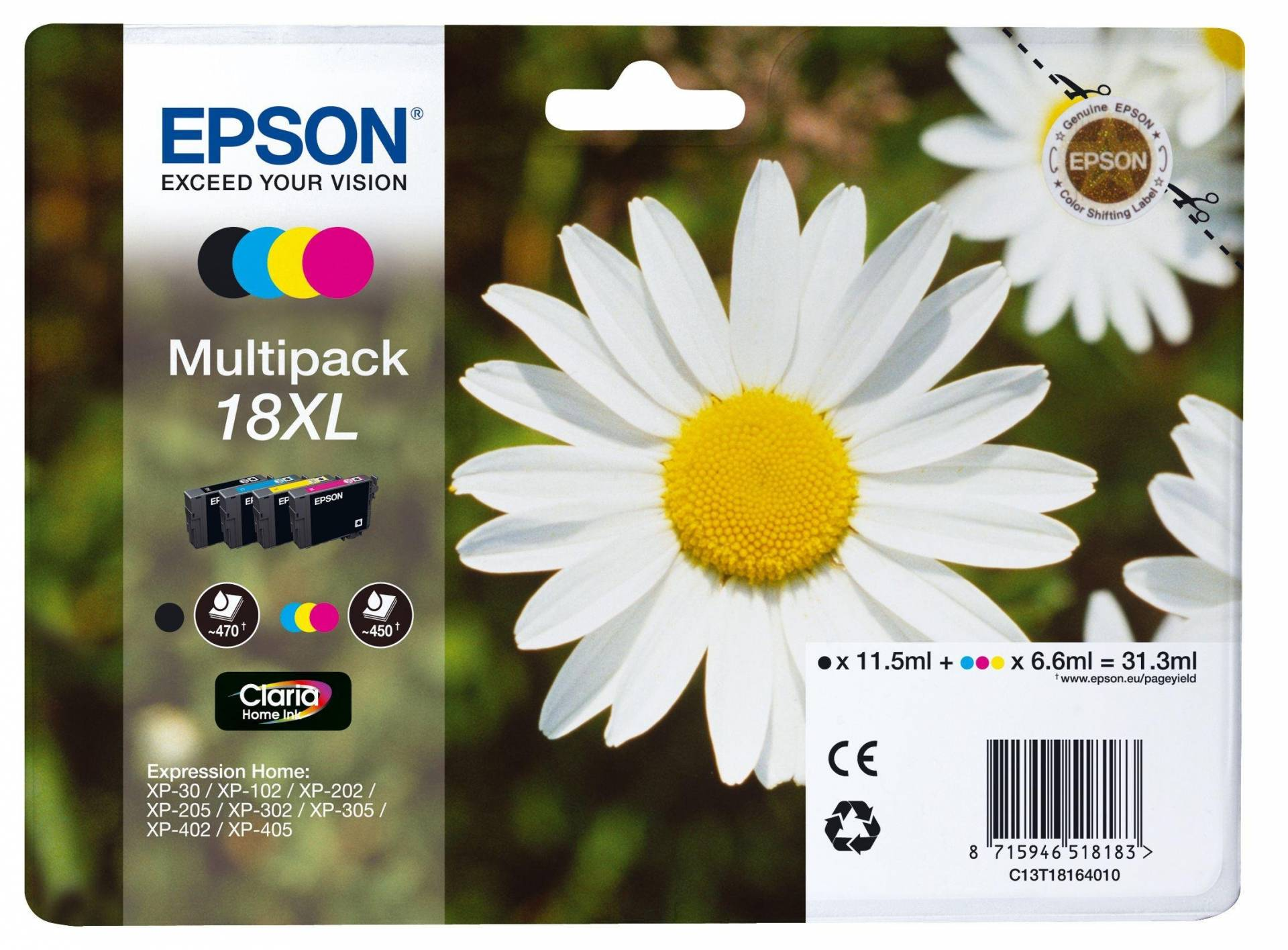 Epson Daisy 18XL Ink Cartridges Multipack from Epson