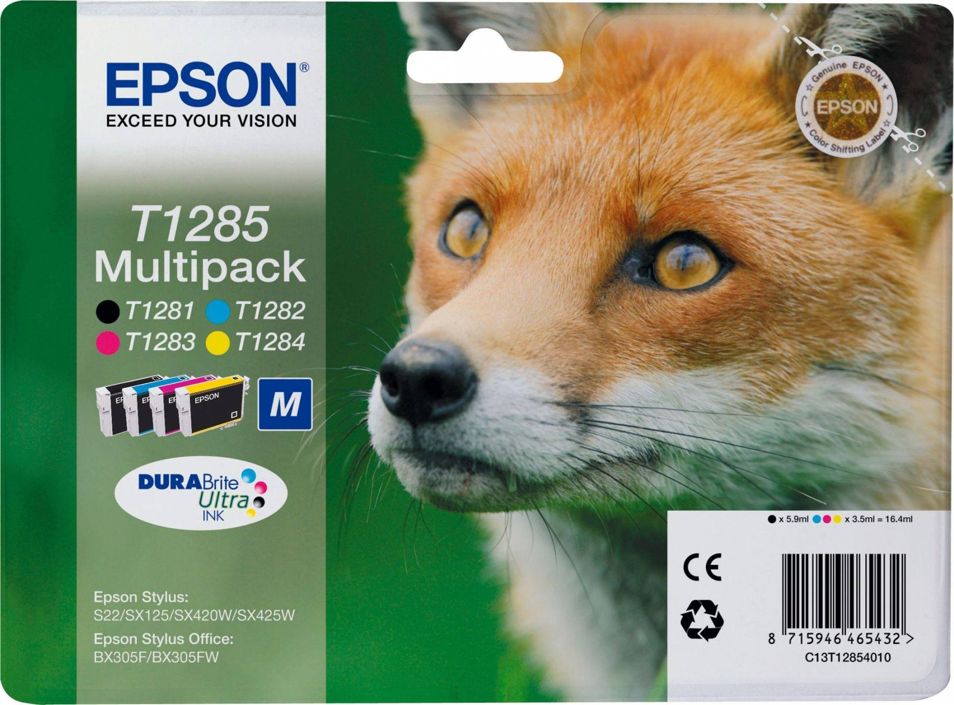 Epson Fox T1285 Ink Cartridge Multipack from Epson