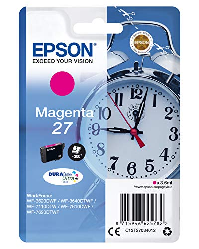 Epson Alarm Clock C13T27034012 (Yield 300 pages) Magenta 3.6ml Ink Cartridge from Epson