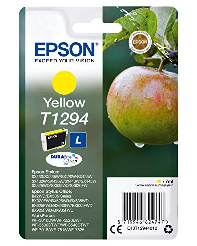 Epson T1294 Yellow Apple Genuine DURABrite Ultra Ink Cartridge, Amazon Dash Replenishment Ready from Epson