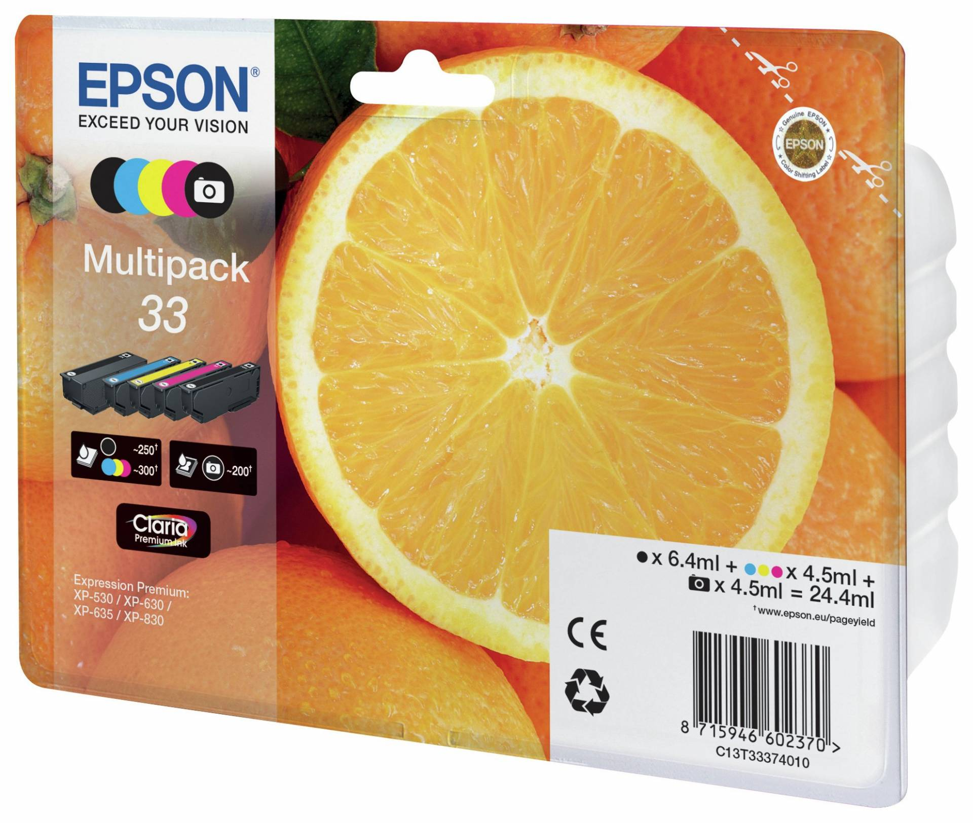 Epson Oranges 33 Photo Ink Cartridges MultiPack from Epson