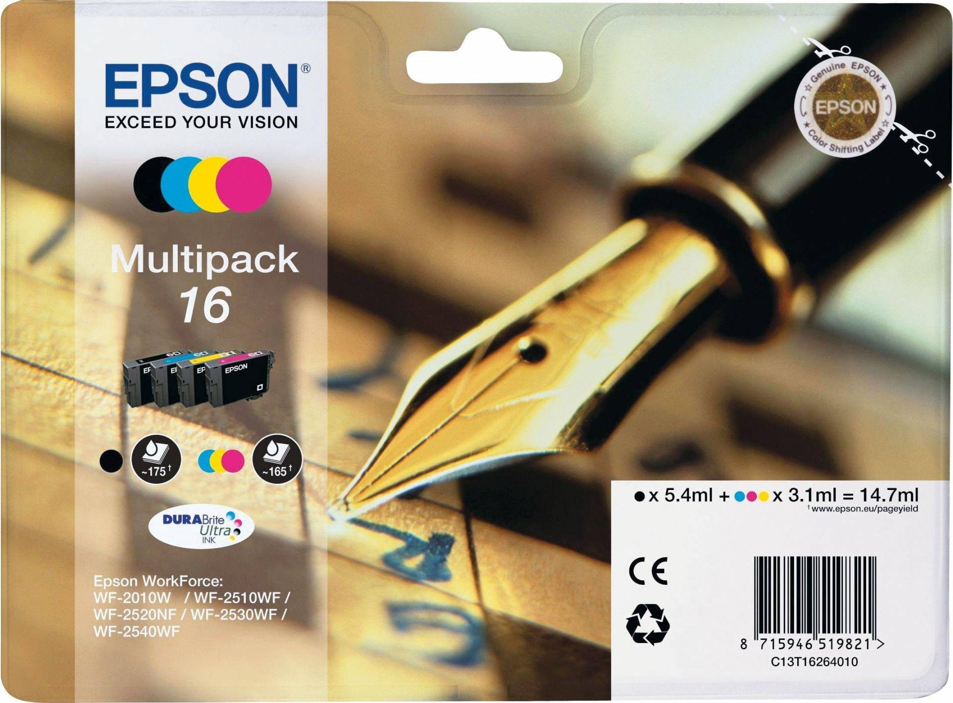 Epson Pen 16 Ink Cartridges Multipack from Epson