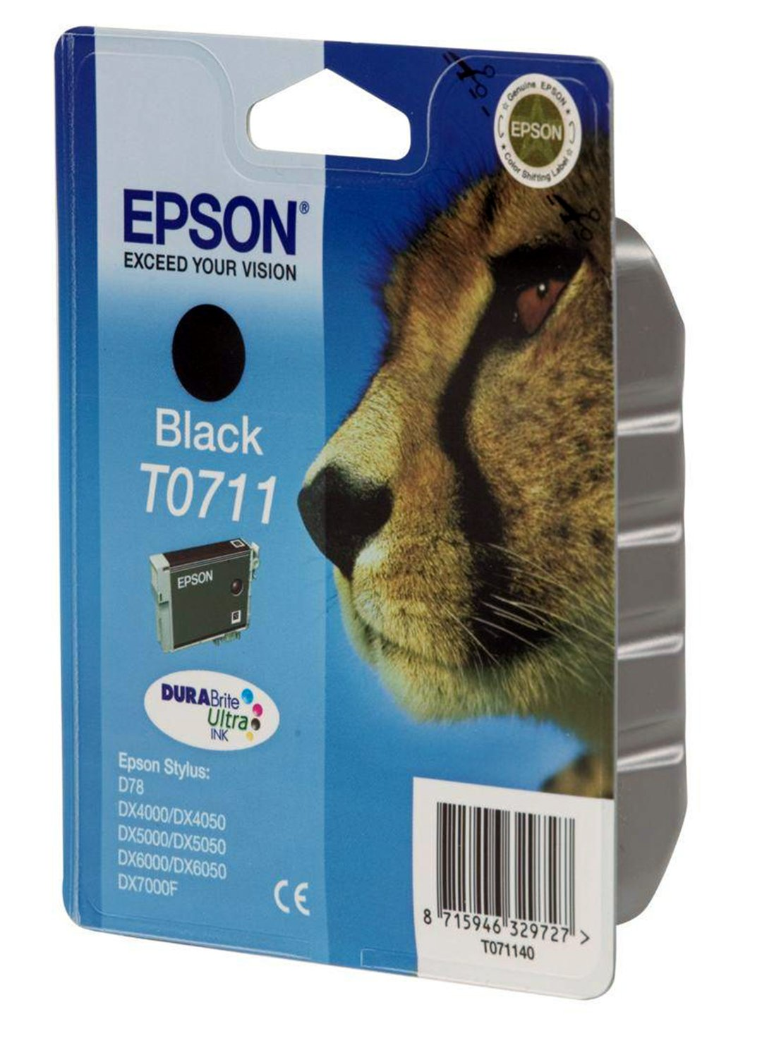 Epson Cheetah T0711 Black Ink Cartridge from Epson