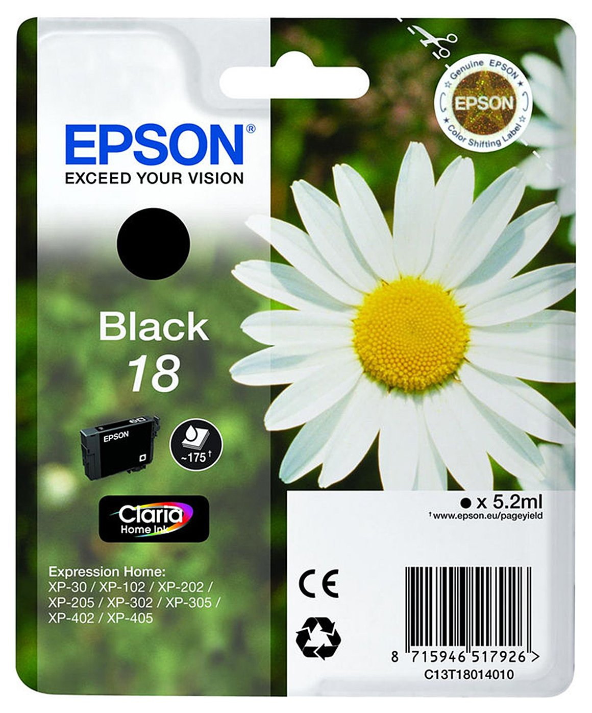 Epson Daisy T1801 Black Ink Cartridge from Epson