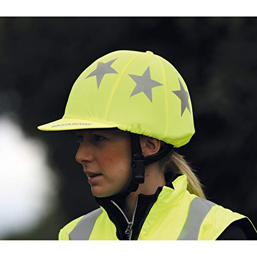 Equi-Flector Riding Hat Cover : Bright Yellow from Equi-Flector