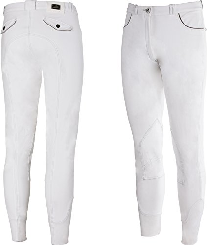 Equi-Theme/Equit'm Men's 979441046 Verona Breeches, White/Light Grey Contrasts and Piping, One Size from Equi-Theme/Equit'm