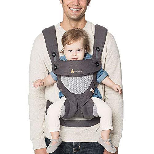 Ergobaby Baby Carrier for Toddler, 360 Cool Air Carbon Grey, 4-Position Ergonomic Child Carrier and Backpack from Ergobaby