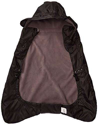 ERGObaby Winter Weather and Rain Cover for Baby Carrier, Isolated Rain Cover with Fleece Lining, Waterproof, black from Ergobaby