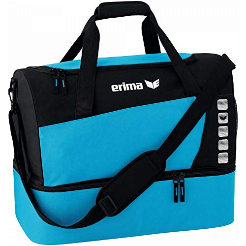 Erima Unisex's Spacious Sports Bag with Bottom Compartment-Curacao/Black, Medium from Erima