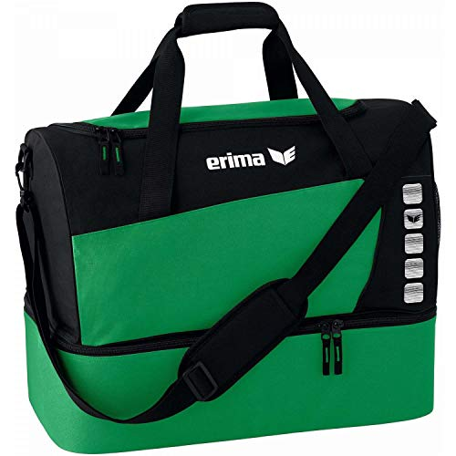Erima Unisex's Spacious Sports Bag with Bottom Compartment-Emerald/Black, Small from Erima